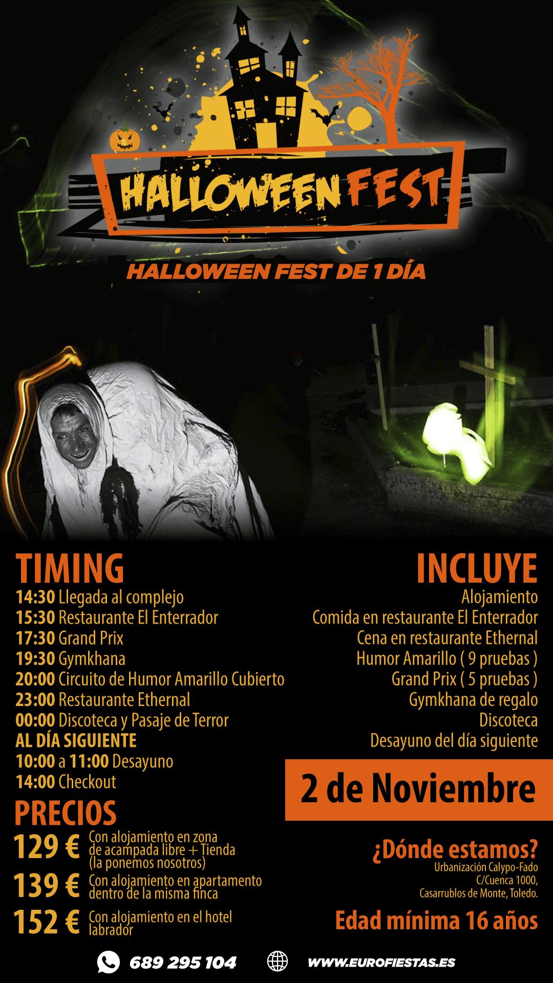 Halloween Fest 1 día