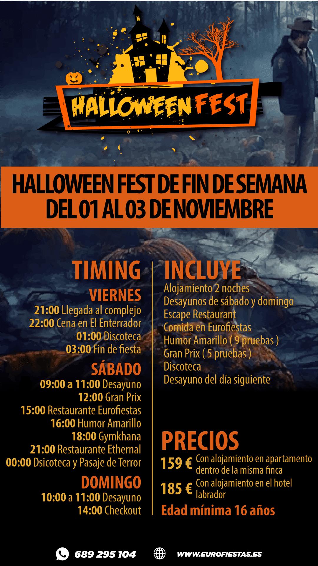 Halloween Fest Fin de Semana