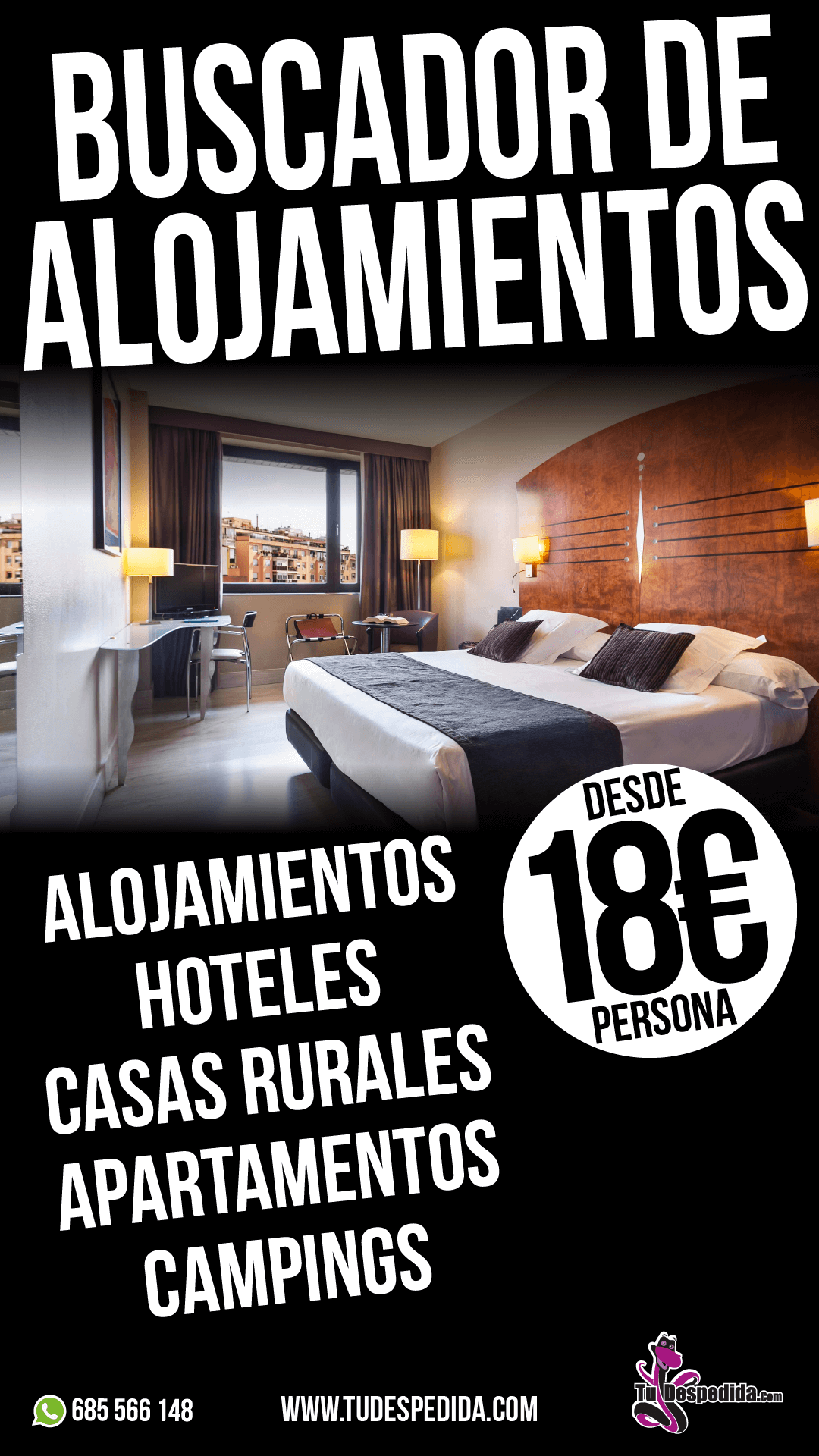 Alojamientos para despedidas en Castellón
