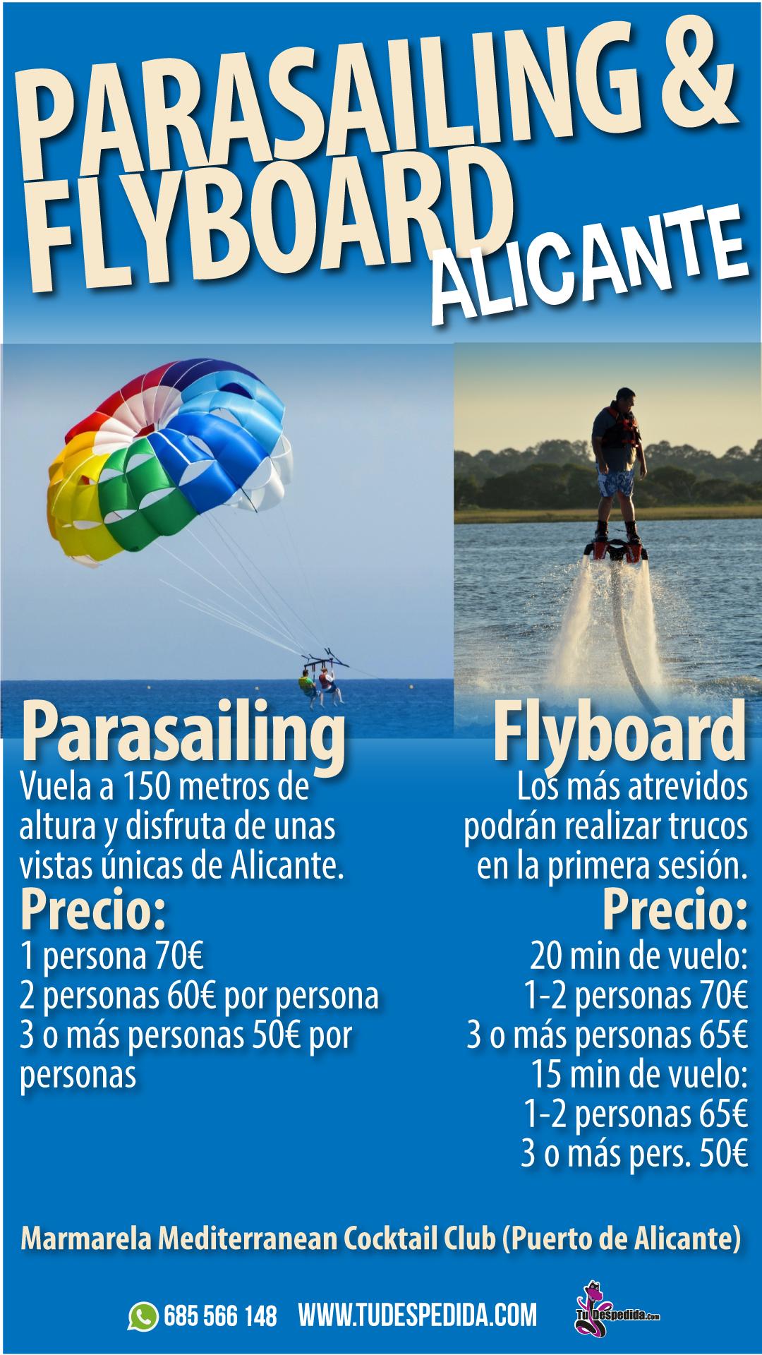 Parasailing Flyboard Alicante
