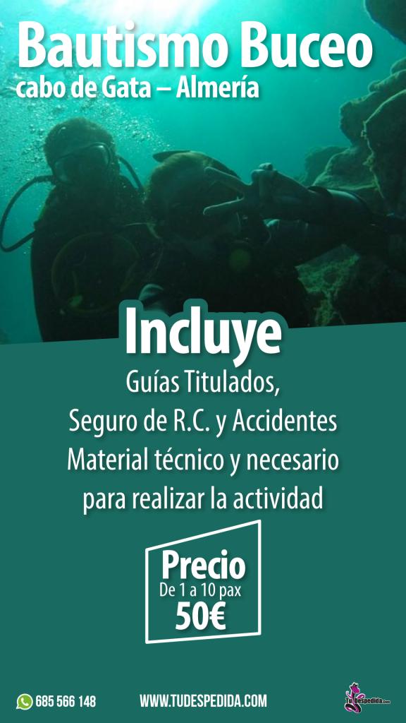 Bautismo Buceo Cabo de Gata - Almería